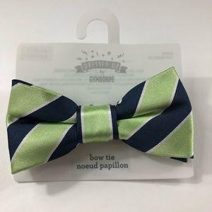 Gymboree Boys Navy Blue Green White Stripe Bow Tie